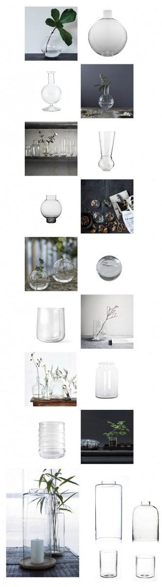 Klare vaser og blomster lige til døren