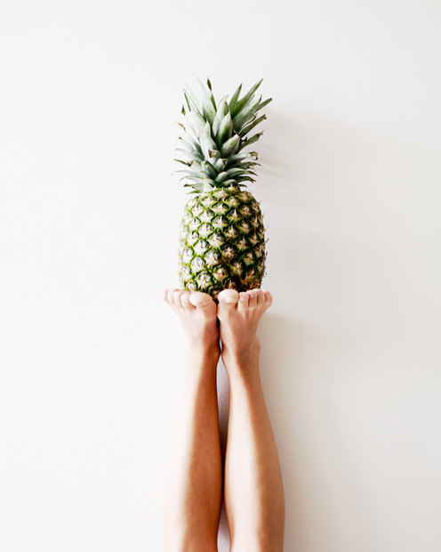 Pineapple on print