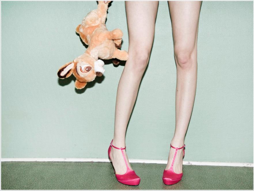 Bambi meets pink heels