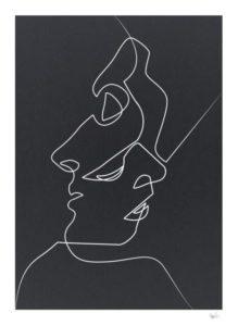 close-noir-kunstprint