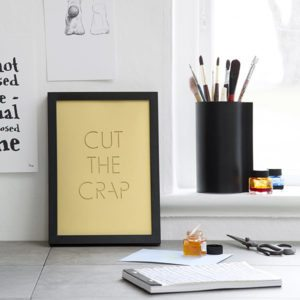 CUT THE CRAP – Dagens Poster