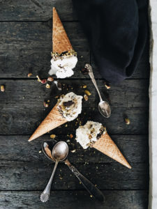 Peppermint & Chocolate chip Ice cream