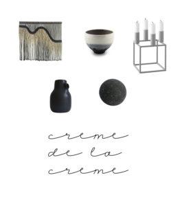 Creme de la creme med lyse farver, sort og grå