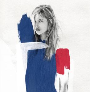 Lucie Birant - Blue - poster - plakat