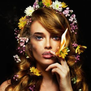 I'd rather wear flowers in my hair….