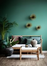 Grøn væg og lækker bambus
