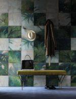 Botaniske vægge med print