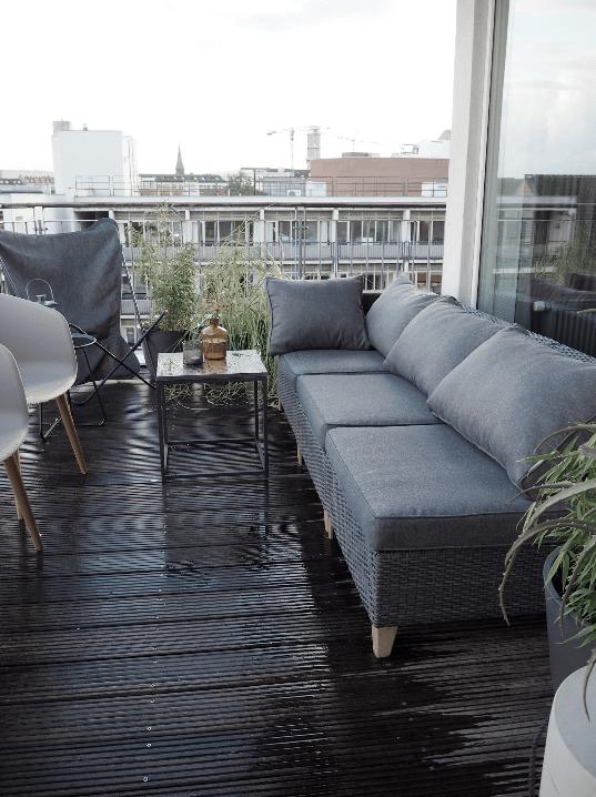 Lounge møbler på tagterrassen i Århus, alt er fra JYSK