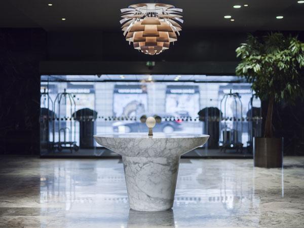 Lobbyen på Radisson Blu Royal i København.