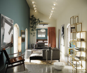 very nice room with good light and colorfull walls. Elegant furniture